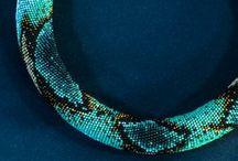 Háčkované korálkové šperky / Crocheted bead jewelry