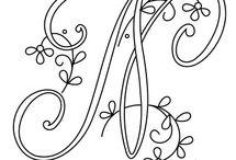 alfabeto ricamo