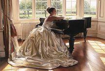 piyano ve kadın