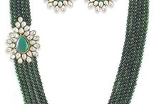 Dazzling Indian Party Wedding Wear Strand Jewelry Set