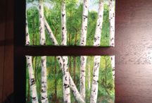 Birch and Aspen paintings