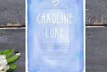 GRAPHIC DESIGN- wedding / by Caity Corbin