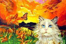 My Springtime ACEO / Miniature art - ACEO