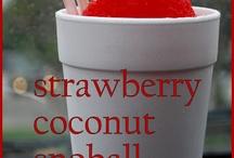 strawberry coconut 'snoball' and ponchatoula, louisiana