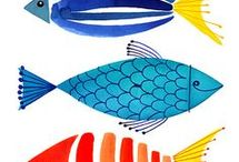 Theme - fishes / Fishes illustrations
