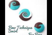 Fimo swirl