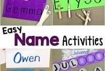 Name activities {home preschool}