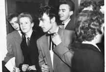 Teddy boys and rockabillies