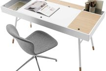 Beautiful desks workplace / furniture and design for work places desktop
