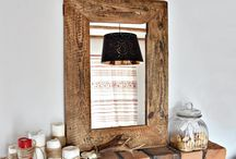 Mirrors in old wood frame,  old window frame / Solid and soulful piece of handmade organic furniture.  https://www.etsy.com/uk/shop/MadeFromWoodd?ref=hdr_shop_menu