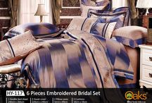 Bridal Bedsheets / Embroidered bed sheets
