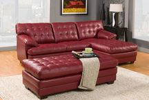 Red Sofas and Sectionals