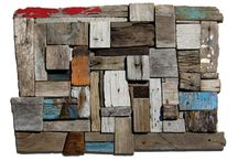 Driftwood Collages / During my walks along the ocean shore, i collect all kinds of matters, forms, structures, left behind from humans in non related environment.  I take them away from where the not belong, and bring them back into society. Showing their character, beauty and uniqueness.