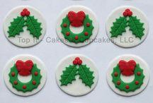 Decoración de galletas de Navidad en fondant