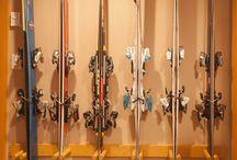 Ski rack storage