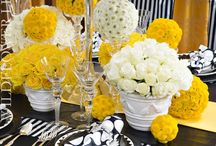 Yellow Wedding Color Theme / Would love to see yellow as your main color for your wedding day? Browse through our pins gallery for beautiful yellow color ideas and complimentary matching colors.