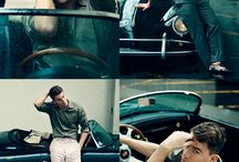 International Men's Day / Celebrating International Men's Day with classic pictures of celebrities and their cars.