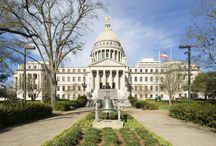 Mississippi Capitol Building / Built 1901-1903 by Theodore C. Link. The exterior is Indiana limestone. / by Evan Millett