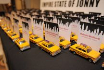 Empire State of Jonny - NYC Theme Party / Centerpieces, Place cards and decor for a NYC Themem party