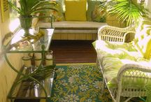 Outside Gathering Places / Sunshine:  bright, yellows . . . 