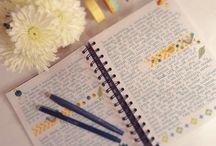 Journaling / Find yourself...scribble thoughts, soar on your rainbows and let your tears smudge the pages.  Dare to let it all out, you will be amazed at what you all discover!