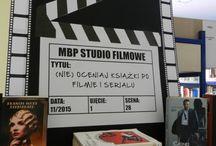 Film/DIY czyli nasze dekoracje / (Nie)oceniaj książki po filmie i serialu - wystawa książek, które doczekały się ekranizacji