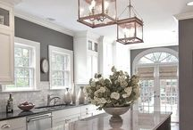 kitchen with taupe