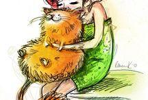 Девочки и кошки