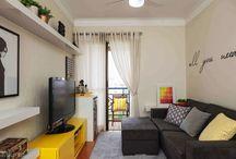 salas de estar e jantar pequena
