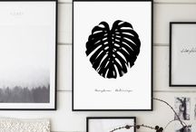GalaDigitalPrints / Modern Typography, Black and White typograohy Wall Art, Digital Prints, Intant Download