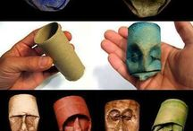 Roll up roll up!!!! / Craft with toilet paper rolls .