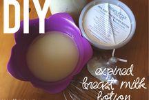 Expired breast milk