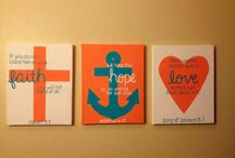 canvas painting ideas / by Kara Jantzen