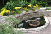 Water Features / Add a fantastic water feature to your backyard with ideas from the landscaping experts at Above and Beyond Complete Grounds Maintenance Inc.