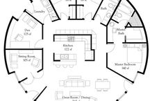 Geodesic Domes - Floor Plans / Floor plans and dispositions in geodesic domes.