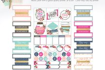 Cute Printables / Organize your masks with these cute planner printables