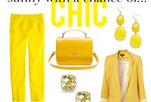 Yellow Fashion / Yellow #fashion for #SS15 Spring and Summer with vitamine!
