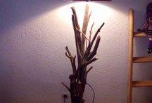 lampe en bois flotté / creations olibois.com