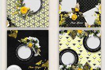 CT ButterflyDsign / Pages de Scrap Digital réalisées avec les kits de ButterflyDsign