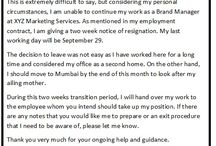 Job Resignation Letter Sample