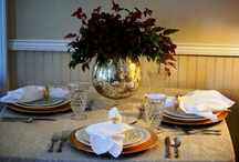 Holiday Decorations at CBG / Thanksgiving table @ Columbus Botanical Garden