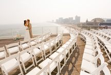 Terrace / The ocean and Atlantic City Boardwalk serve as a backdrop for wedding ceremonies and receptions