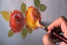 Rose painting a simple way