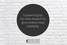 Copywriting tips / Handy copywriting tips from distance learning course provider, the College of Media and Publishing.