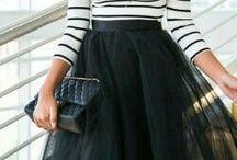 Long skirt style