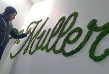 Moss Typography / Moss Typography • Collab / Florian Schneider + Monsieur Plant • La Maison Muller / splendens Factory