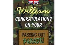 Passing Out Parade Cards / Military passing out parade Cards for people in the Army, Royal Navy or Royal Air Force! Congratulate your son, daughter, sister, brother, grandchild, niece, nephew or friend on completing their training.