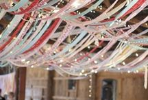 decorations / ceiling and table decorations
