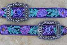 Spur Straps / Hand painted leather, western spur straps.  / by Pampered Cowgirl