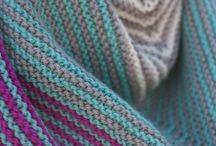 Shawls to the Walls! / Knit shawls